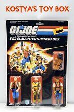 GI Joe Slaughters Renegades 1987 MOC MOSC New Factory Sealed Action Figure Set