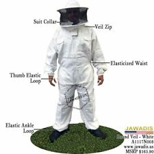 Adult 2Xl White Pest Control BeeKeepers Bee Suit Round Sheriff Bee Suit & Case
