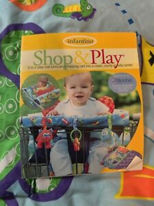 Infantino Shop & Play 2 In 1 Play Mat Turns into a Shopping Cart Cover