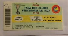 billet ticket Finale coupe des coupes C2 1992 MONACO - WERDER  BRÊME  europe