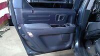 06-08 Honda Ridgeline Left Driver Side Gray Rear Back Door Interior Trim Panel
