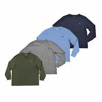 Polo Ralph Lauren Mens T-Shirt Long Sleeve V-Neck Tee Shirt S M L Xl Xxl New Nwt