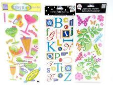 Bulk Lot #58 3 packs Mambi & Sticko Glitter Sticker Sheets Nature Alpha + 63 pcs