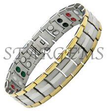 Bracciale Guarigione Bio TITANIO terapia magnetica braccialetto Dolore Sollievo Artrite Aiuto