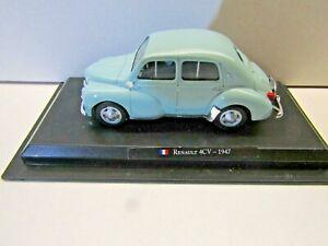 Amercom Collection 1:43 Scale Die Cast Model 1947 Renault 4CV - Light Blue