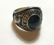Huntington Catholic Indiana 1975 10k White Gold Class Ring Sz 10 - Fr. Thom Lomb