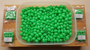 24 x 17mm-13mm Extra Large Oval Green Lumi Fishing Beads.Biggest listed on Ebay.