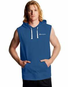 Champion Men's Sleeveless Hoodie Sweatshirt Middleweight Workout Weight Training