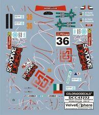 """DECALS 1/43 SKODA FABIA S2000 #36 """"SKYDIVE"""" PORTUGAL 2013  - COLORADO  43232"""
