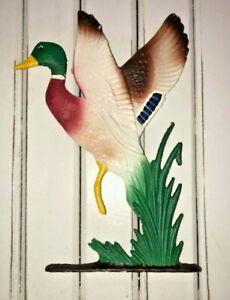Duck Mailbox/Fence post Topper CAST IRON MALLARD