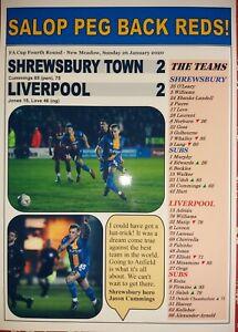 Shrewsbury Town 2 Liverpool 2 - 2020 FA Cup - souvenir print