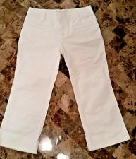 Tommy Hilfiger Stretch White Capri Jeans Womens Size 2 30x22 stretch