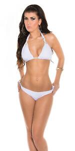 Bikini Costume Bagno Mare Donna ISF SA454 Bianco Tg S M L