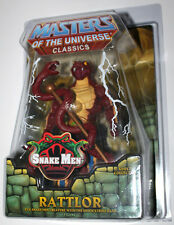 HE MAN MOTUC CLASSICS  FIGURE RATTLOR  W/ WHITE BOX & Zoloworld PROTECTIVE CASE