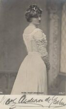 *GREAT VICTORIAN ACTRESS MARY ANDERSON 1859-1940 RARE AUTOGRAPHED PHOTO*