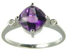 Ring Amethyst Yellow Gold Vintage & Antique Jewellery 9k Metal Purity
