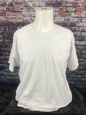 Lions Crest by English Laundry White V-Neck T- Shirt Size Large