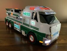 2016 HESS TOY TRUCK AND DRAGSTER~Lights, Sounds, Friction Motor, Wheelie Action!