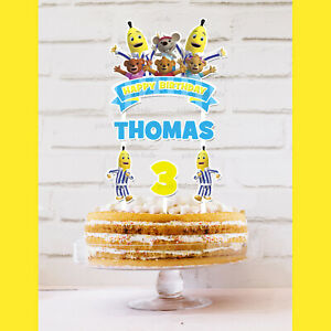 Bananas in Pyjamas Cake Topper Personalised *STURDY* Kids Birthday Party