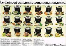 Publicité Advertising 1981 (2 pages) Le Robot cuitout Moulinex