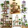 Wood/ Bamboo/Metal Shelf Flower Pot Plant Stand Rack Garden Indoor Outdoor Patio
