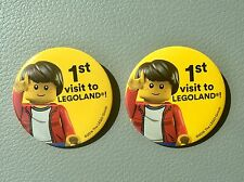 Legoland 1st Time Visitor Button Pin Lego