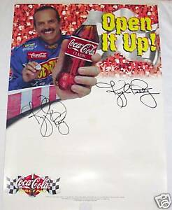 KYLE PETTY AUTOGRAPHED SIGNED COCA-COLA COKE NASCAR RACING PHOTO POSTER SIGN