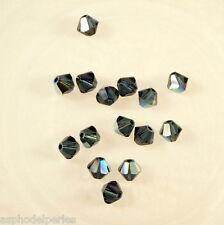 50 perles  toupies en cristal de Swarovski  5328 Montana AB 4 mm