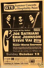 G3 Tour 1996 Poster: Joe Satriani, Eric Johnson, Steve Vai, Kenny Wayne Shepherd