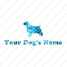Custom Welsh Springer Spaniel Dog Name Decal Sticker - 25 Printed Fills 6 Fonts