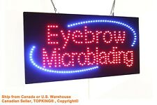 Eyebrow Microblading Sign Neon Sign LED Open Sign Store Sign Business Sign
