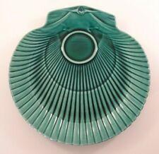 "Vintage Wedgwood Etruria Green Majolica Shell Shape 9"" Serving Plate c1950"
