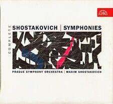 Maxim SHOSTAKOVICH cond Complete 15 Symphonies: 10 Supraphon CDs Prague Sym Orch