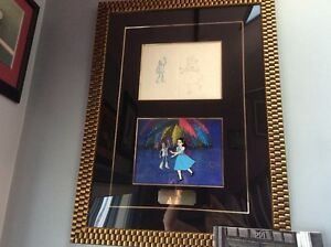 journey back to Wizard of Oz framed production cel & drawing