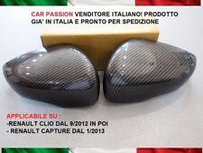 Pair Caps Mirror Renault Clio Capture Carbon Carbon Look Rear View