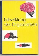 Biologie Schulbuch DDR Entwicklung der Organismen 1961 Volk & Wissen !