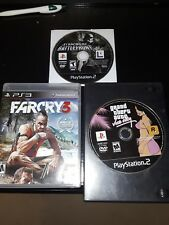 Far Cry 3 PS3, Gta Vice City PS2, Star wars battlefront PS2 Lot of 3