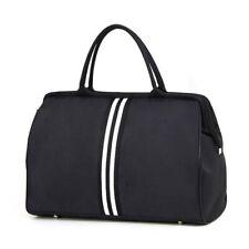 Women Overnight Weekend Traveling Bag Ladies Stripe Handbag Big Travel Nylon Bag