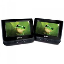 "Twin 7"" Screen in-car Portable DVD Player, Seat Straps, Remote.."