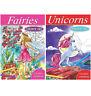 Adult Children Fairies Unicorns Colour Therapy Artist Colouring Book Books