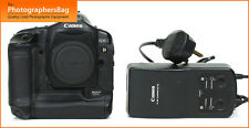 Cámara SLR Canon Eos 1D MK II Digital cuerpo, Batería, Cargador Gratis Reino Unido Pp