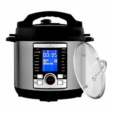 ChefWave 6Qt 10-in-1 Multi-Use Digital Programmable Pressure Cooker+Accessories