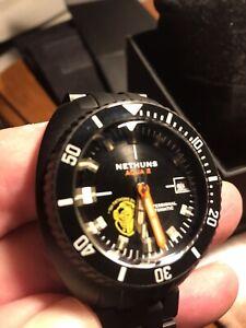 Nethuns Aqua II A2S313 DLC Coated Stainless Dive Watch, 44 MM