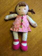 JUST ONE YOU BABY GIRL DOLL BROWN BRAID PONYTAIL PINK GREEN BROWN FLOWER DRESS