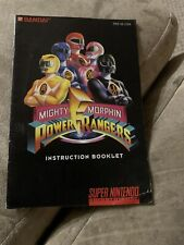 Mighty Morphin Power Rangers SNES Super Nintendo Instruction Manual Only