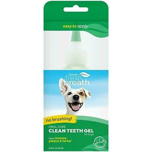 TropiClean Fresh Breath Oral Care Gel for Dogs Removes / Reduces Plaque & Tartar