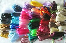 3mm DOUBLE FACED SATIN RIBBON  10m or 20m length lots of colours Thin Narrow