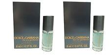 DOLCE & GABBANA THE ONE GENTLEMEN miniatura MINI Aftershave per gli uomini 8ml EDT x2