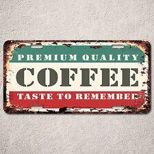 LP0199 Vintage Premium Coffee Sign Rustic Auto License Plate Restaurant Decor