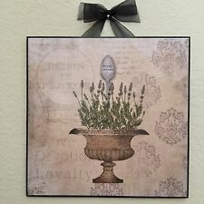 French Lavender Herb Plaque Wall Decor Country Cottage Shabby